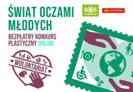 Bezpłatny konkurs plastyczny ONLINE - Wolontariat na znaczkach pocztowych!