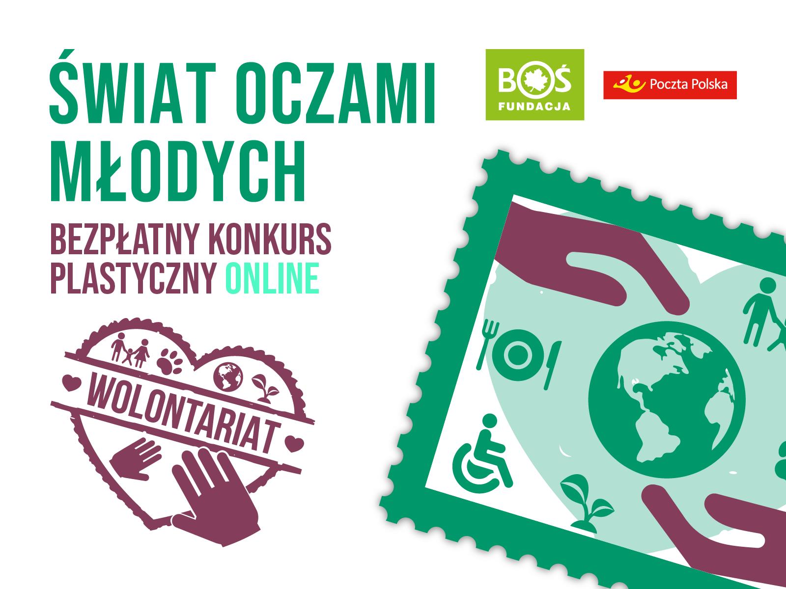 Bezpłatny konkurs plastyczny ONLINE – Wolontariat na znaczkach pocztowych!